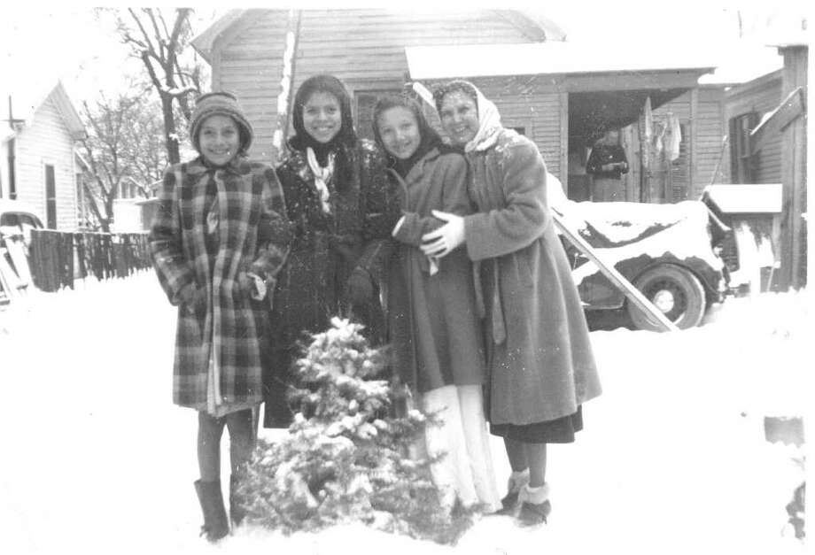 I've been following the articles by Paula Allen and the one this Sunday caught my attention.  Yes there was snow in San Antonio in 1949.  I have a picture of my wife's family living  near Navarro School  posing in their backyard with snow all around.  