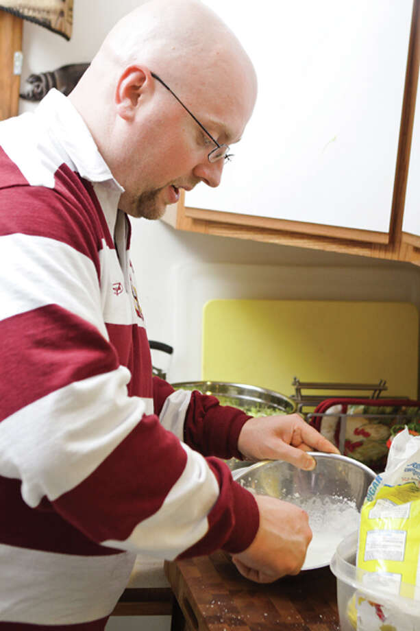 The art of charcuterie -- producing cured cold meat such as bacon, sausage, pate and confit -- is the delicious specialty of chef Christopher Allen Tanner, a member of the culinary faculty at Schenectady County Community College. (Suzanne Kawola/Life@Home) Click here to read the story.