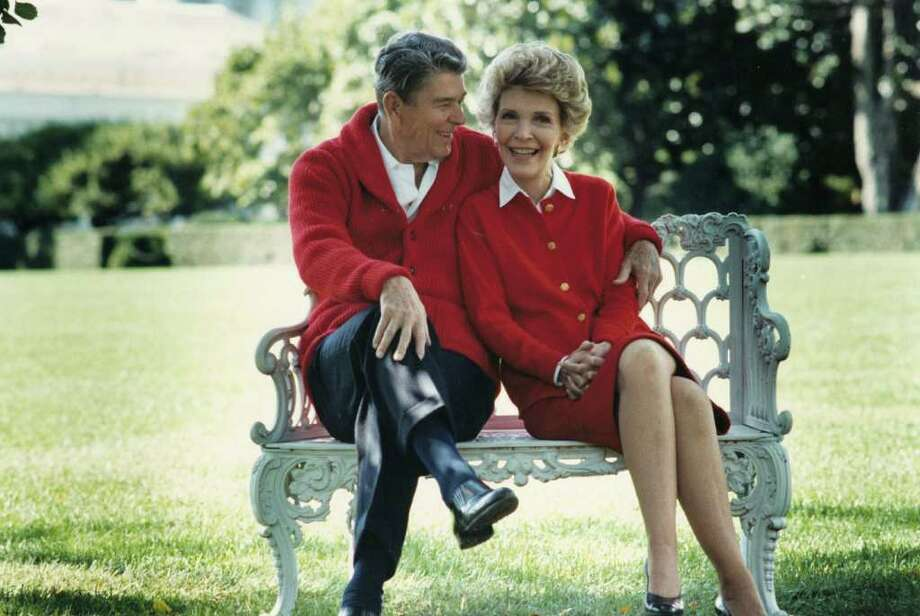 402010 01: Former U.S. President Ronald Reagan and First Lady Nancy Reagan share a moment in this undated file photo. The couple celebrated their 50th wedding anniversary on March 4th 2002. (Photo courtesy Ronald Reagan Presidental Library/Getty Images) Photo: Getty Images / Getty Images