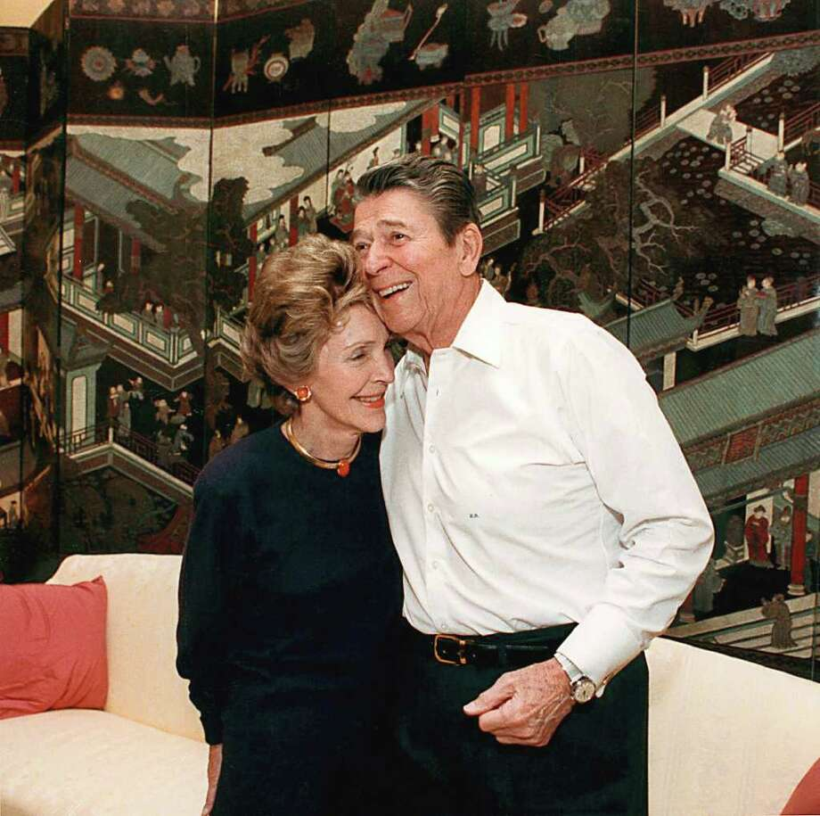 385249 01: (FILE PHOTO) U.S. President Ronald Reagan and First Lady Nancy Reagan celebrate their 36th wedding anniversary March 4, 1988 at a surprise party at the White House. Former President Reagan turned 90 years-old February 6, 2001 at his home in California. (Photo by Mary-Anne Fackelman-Miner/White House/Newsmakers) Photo: The White House, Getty Images / Getty Images