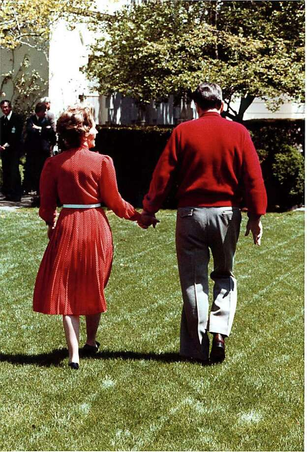 File Photo: U.S. President Ronald Reagan And Mrs. Nancy Reagan Stroll Through The White House Rose Garden On April 16, 1981.  (Photo By The White House/Getty Images) Photo: The White House, Getty Images / Getty Images