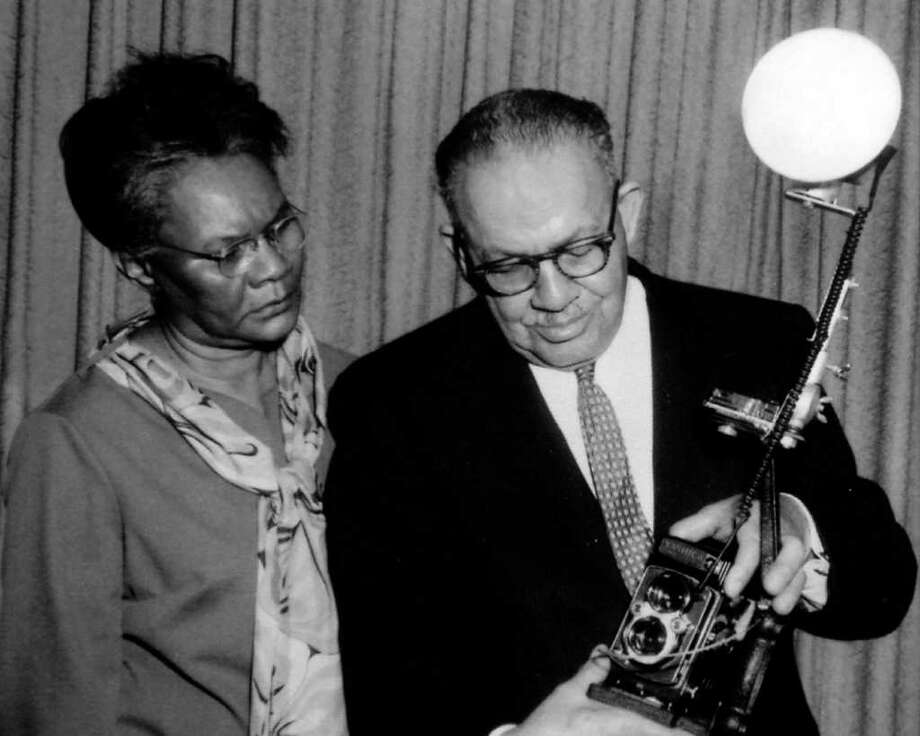 This photograph of Helen and Alonzo Jordan was taken in the 1980's. Photo provided by the Jasper County Historical Museum. Photo: Dave Ryan / Beaumont