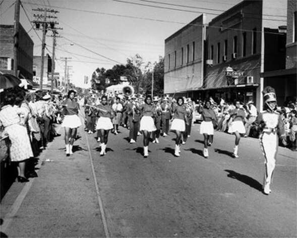 Alonzo Jordan [J. H. Rowe High School marching band led by Annie Clyde Dacus, Jasper, Texas], ca. 1958-59 © 1996 Documentary Arts, Inc. Photo: Provided / Beaumont