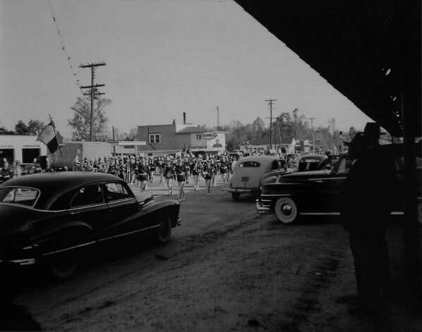This photograph of a parade in Jasper Texas, was taken April 13, 1951.  Photo provided by the Jasper County Historical Museum. Photo: Dave Ryan / Beaumont