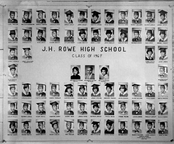 This photograph is of the J.H.Rowe High School Class of 1967. James Byrd was part of this class.   Photo provided by the Jasper County Historical Museum. Photo: Dave Ryan / Beaumont