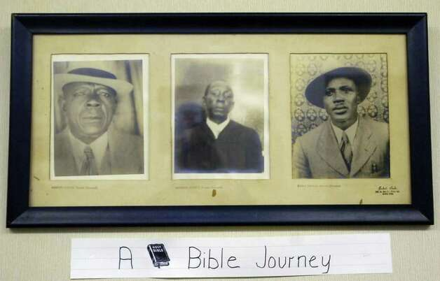 This collection of portraits, taken by Alonzo Jordan, of church members, hangs in one of the rooms of the Mount Olive Missionary Baptist Church on North Main Street in Jasper Texas.  Dave Ryan/The Enterprise Photo: Dave Ryan / Beaumont