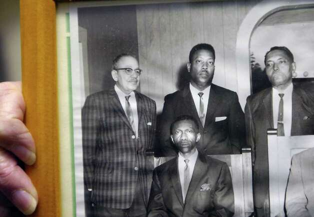 A close up of a photograph at the Mount Olive Missionary Baptist Church, where Photographer Alonzo Jordan, left, posed with other church members.     Dave Ryan/The Enterprise Photo: Dave Ryan / Beaumont