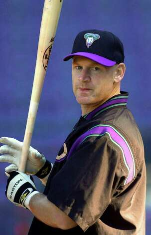 Arizona Diamondback third baseman Matt Williams prepares to hit during a team workout at Turner Field in Atlanta, Thursday, Oct. 18, 2001. Williams received performance-enhancing drugs prescribed a Florida dentist who pleaded guilty to drug distribution charges. (AP Photo/Chris O'Meara) Photo: CHRIS O'MEARA / AP