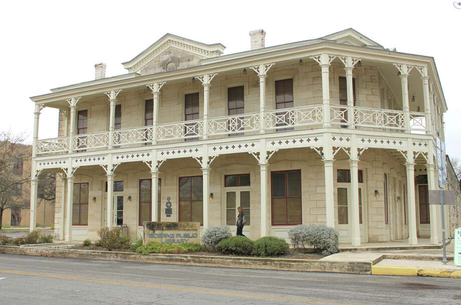The Boerne Public Library occupies the Dienger Building on North Main Street, built in 1890 as a grocery store and home. PHOTO BY KATHLEEN SCOTT/SPECIAL TO THE EXPRESS-NEWS