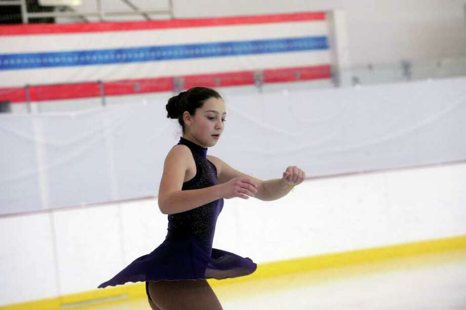 Caroline Aronin Of The Rye Figure Skating Club At 2011 Greenwich Town Competition