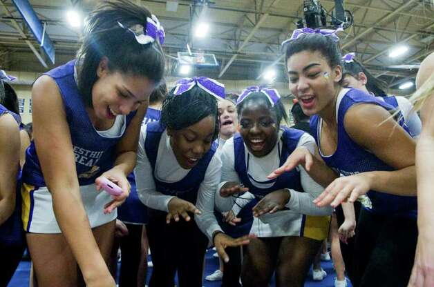 westhill high school cheerleaders dance at the fciac