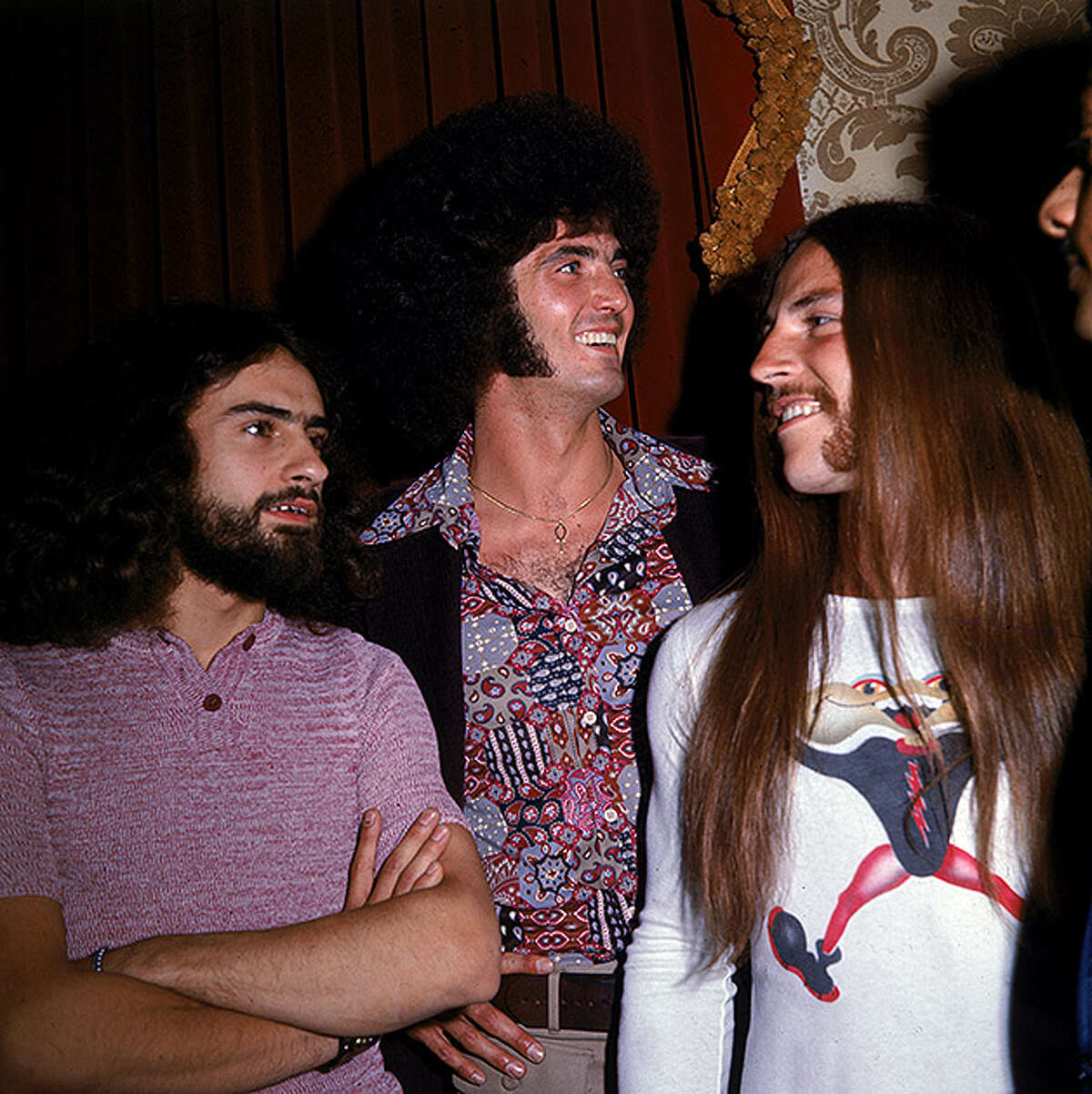 Let's take a look back at some of the musicians who made rock, pop and folk a powerful force in the 1970s. We've tried to keep the captions as they appeared originally, though some minor editing was necessary. Members of the American rock band Grand Funk Railroad, (Left to right): Mel Schacher, Don Brewer, and Mark Farner, 1970s