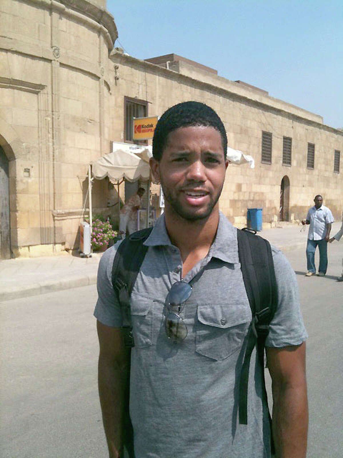Marcus Walton stands in Cairo.