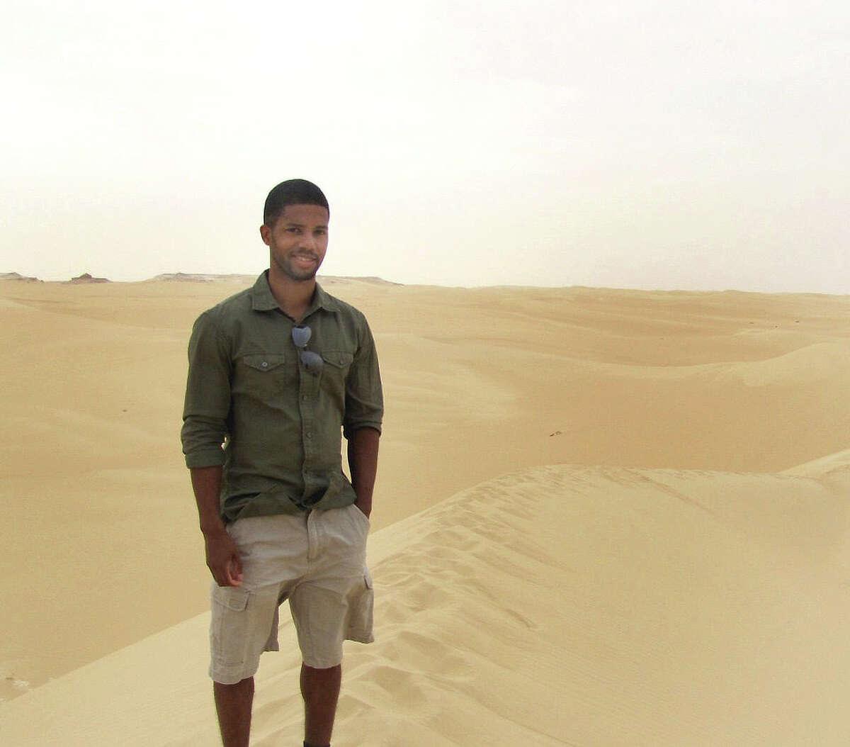 Marcus Walton in the Sahara Dessert.