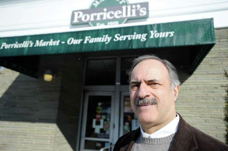 Jerry Porricelli outside the Porricelli's Market in Old Greenwich on Feb. 27, 2010. The store has been the family's flagship since 1950. Photo: File Photo / Greenwich Time File Photo
