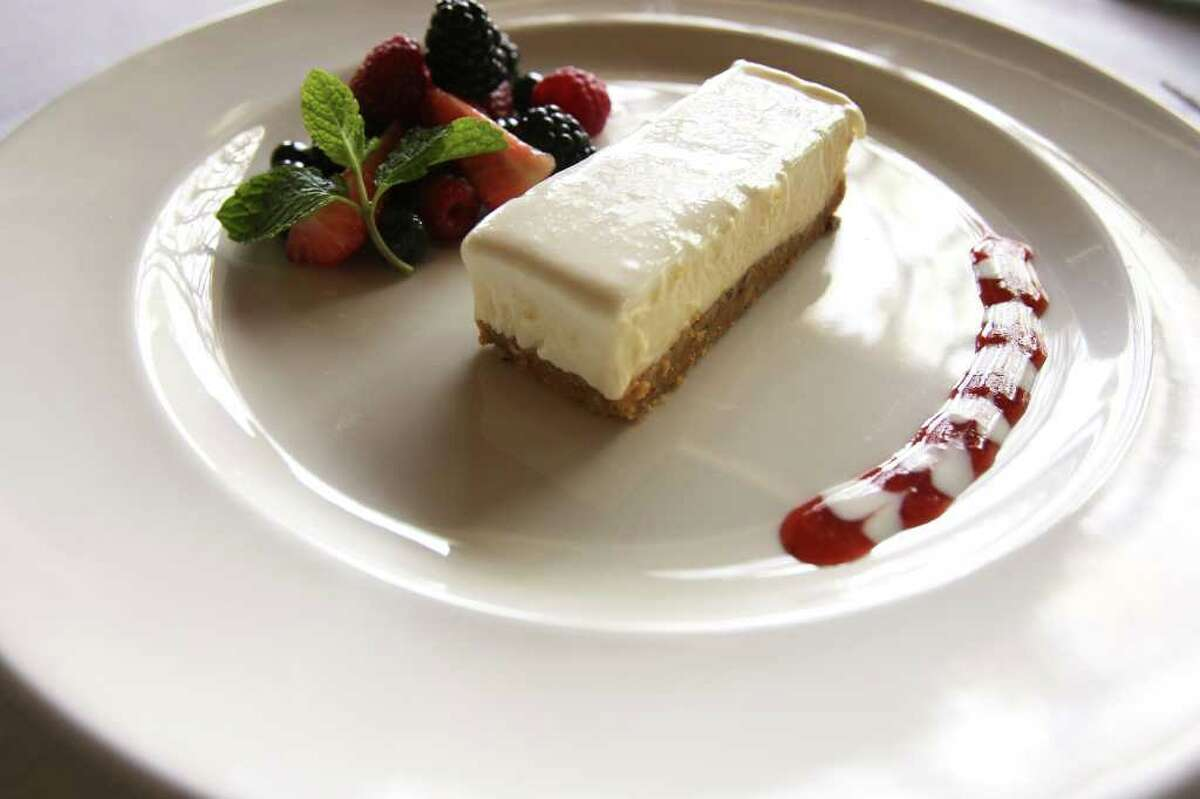 End a Valentine's Day dinner at Aldo's with its cheesecake. Italian flair Restaurant: Aldo'sAddress: 8539 Fredericksburg Road, 210-696-2536Hours: 11 a.m.-10 p.m. Monday-Thursday, 11 a.m.-11 p.m. Friday, 5-11 p.m. Saturday, 5-10 p.m. SundayOn The Menu: Aldo's will offer its regular menu Friday through Feb. 14 plus specials, including heart-shaped ravioli with white and red pasta, lamb chops and lobster tail, osso bucco and a fish item. There will also be a special dessert for the lovers.