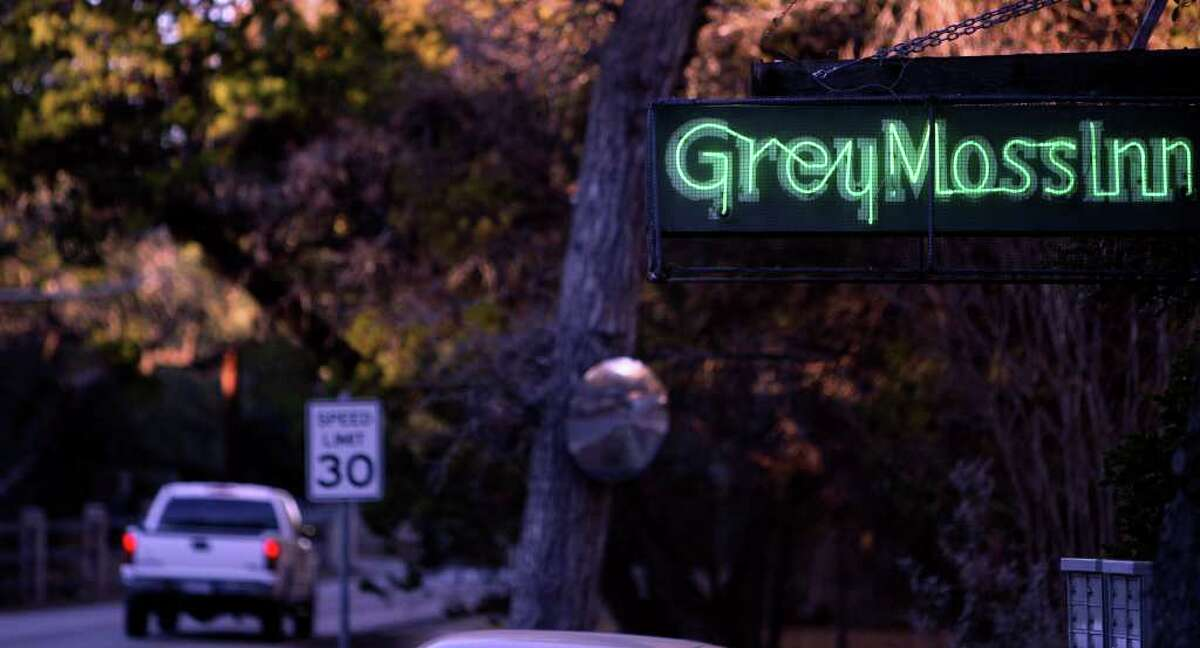 The neon Grey Moss Inn sign is a well recognized icon on the Scenic Loop Road.