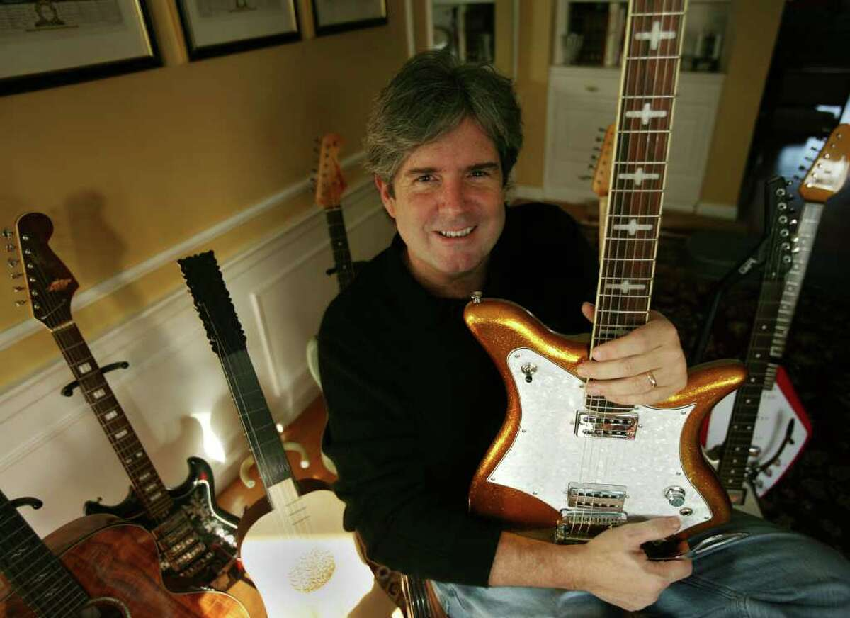 Harvey Newquist of Fairfield, founder of the National Guitar Museum, will be showing a large selection of his instruments in an exhibit at The Discovery Museum in Bridgeport.