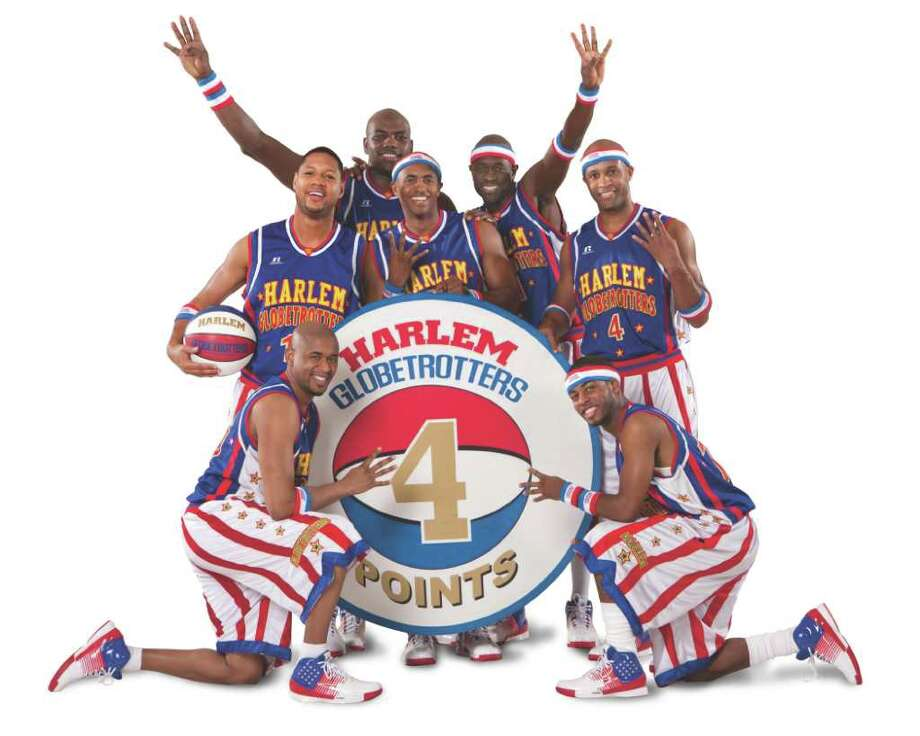 The Harlem Globetrotters will be bringing their first-ever, four-point shot to the boards at the Webster Bank Arena at Harbor Yard, where they will take on the Washington Generals for two shows, 2 and 7 p.m., Saturday, Feb. 12. The fun is part of the team's 2001 '4 Times the Fun' North American tour, the team's record 85th season of touring. Tickets start at $21.25. Call 800-745-3000. Photo: Contributed Photo / Stamford Advocate Contributed
