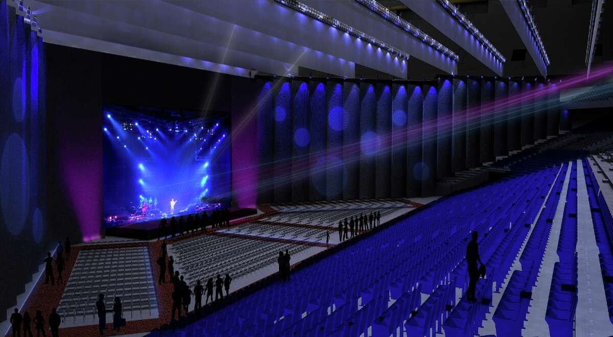 The new Illusions Theatre in the Alamodome can be set up and torn down and seat between 3,600 and 11,600 people, depending on the scale of the event.