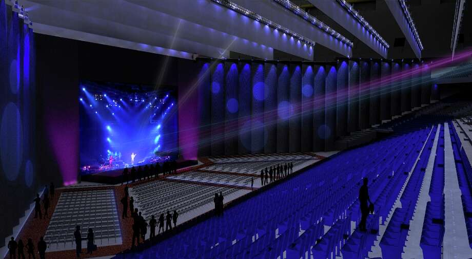 The new Illusions Theatre in the Alamodome can be set up and torn down and seat between 3,600 and 11,600 people, depending on the scale of the event. Photo: COURTESY