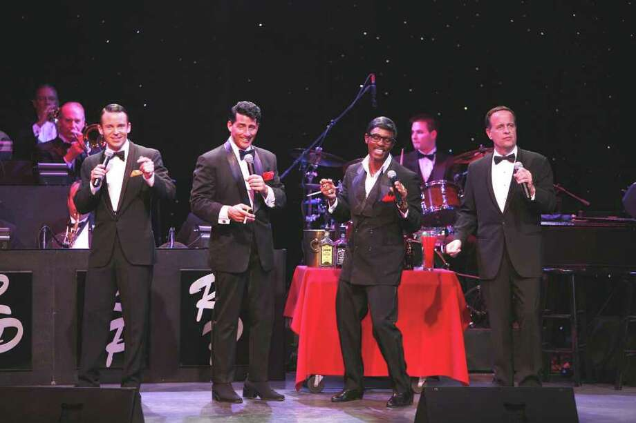 "The early Las Vegas years of Frank Sinatra and his buddies Dean Martin, Sammy Davis Jr. and Joey Bishop come to life again in ""The Rat Pack is Back"" at New Haven's Shubert Theater Saturday Feb. 19 and Sunday Feb. 20. Photo: Contributed Photo / Connecticut Post Contributed"