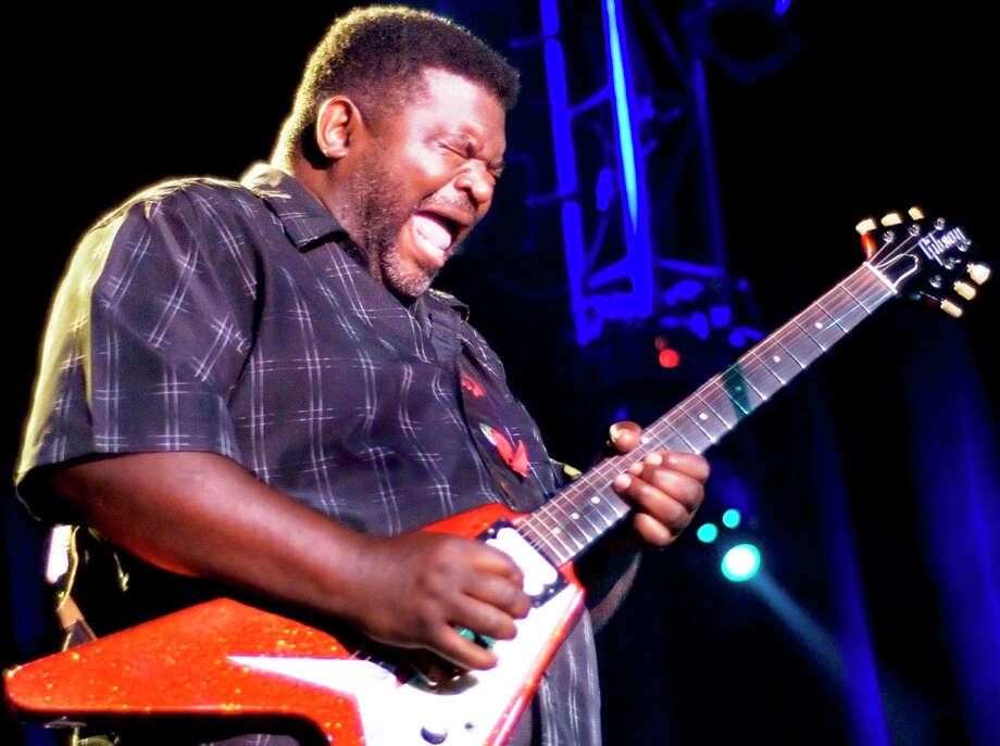 "Blues guitarist Michael ""Iron Man"" Burks plays Sam's Thursday night. COURTESY ALLIGATOR RECORDS"