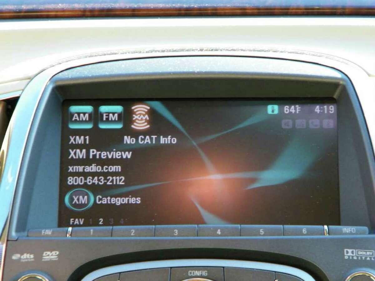 The satellite radio screen in Anne & Mike Bielkiewicz's car. (Photo courtesy of Mike Bielkiewicz )