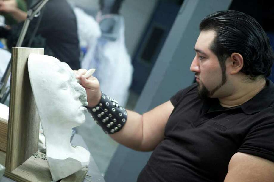 "Sergio Guerra, a San Antonio-based special effects makeup artist with his own business called The Darkness, was the second contestant eliminated during the first season of the SyFy channel's reality show ""Face/Off"" in 2011. Photo: Isabella Vosmikova, Isabella Vosmikova/Syfy / ? Syfy"