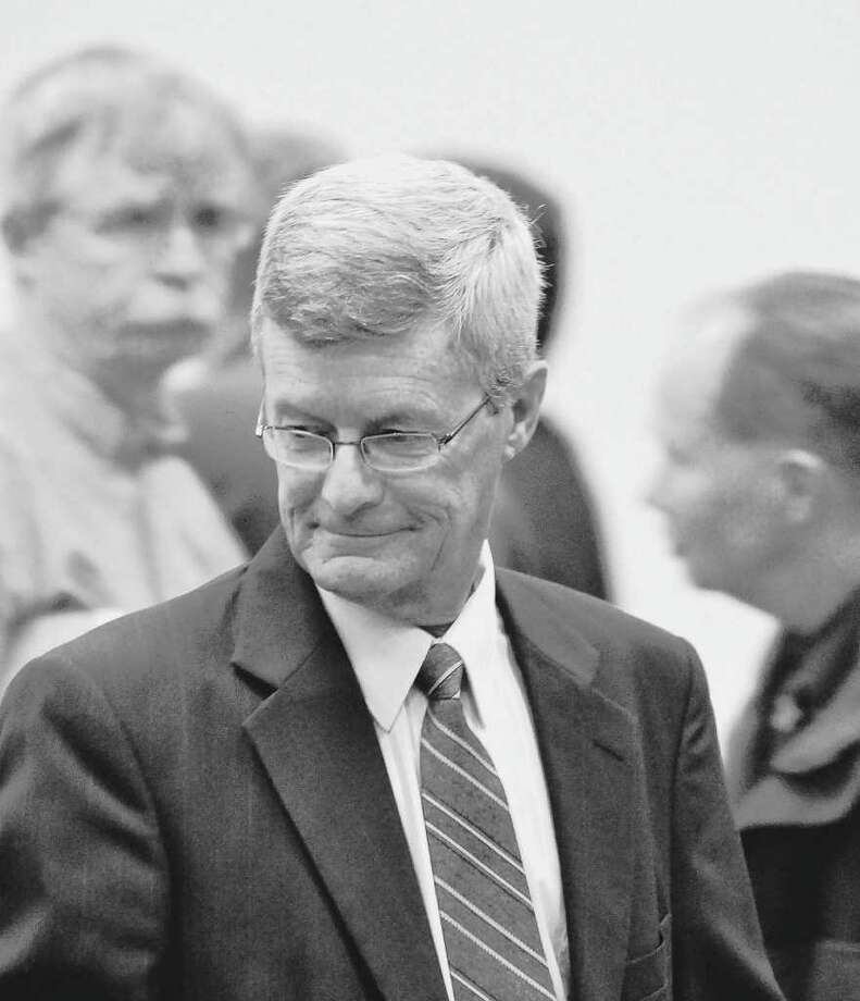 Gary Mercure, a Catholic priest from the Albany Roman Catholic Diocese, stands trial in Berkshre County Massachusetts on charges of raping and molesting two former altar boys in the 1980s. (AP Photo/The Berkshire Eagle, Ben Garver) Photo: Ben Garver / AP2011