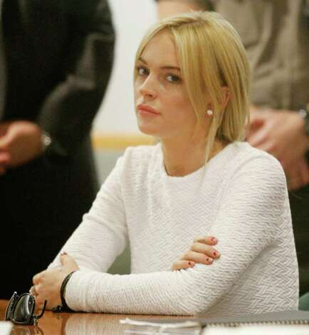 LOS ANGELES, CA - FEBRUARY 09:  Actress Lindsay Lohan during her arraignment for a felony count of grand theft on February 9, 2011 in Los Angeles, California. Lohan was charged with a felony count of grand theft for allegedly stealing a $2,500 necklace from a jewelry store in Venice. (Photo by Mario Anzuoni-Pool\Getty Images) Photo: Pool