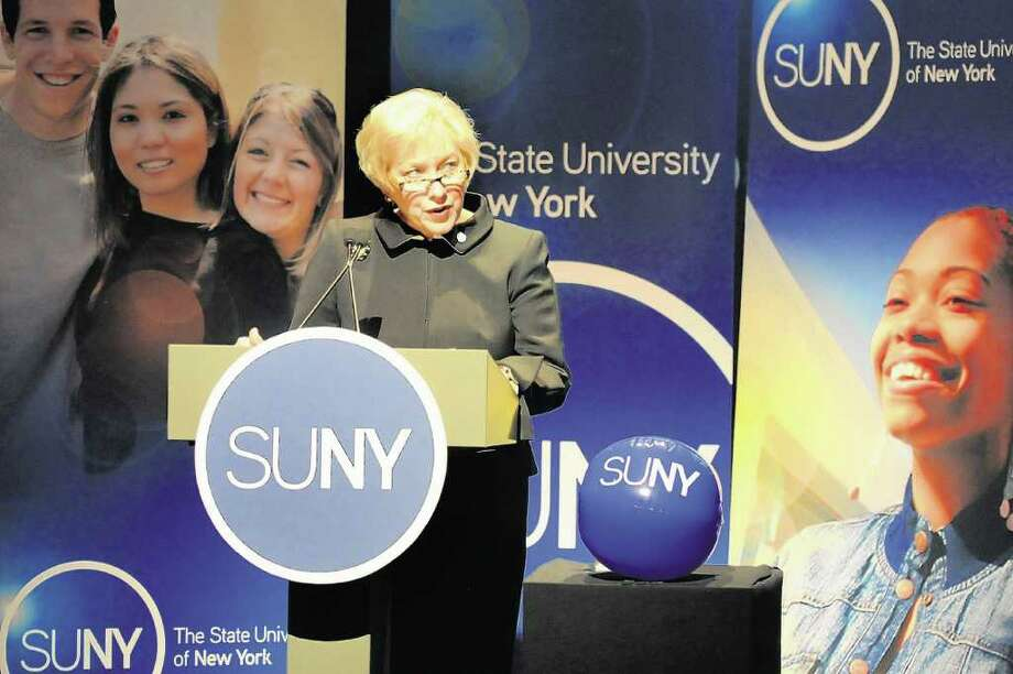 SUNY Chancellor Nancy L. Zimpher says a five-year plan for tuition costs would help students and their parents finance college. (Cindy Schultz / Times Union) Photo: Cindy Schultz / 10011789A