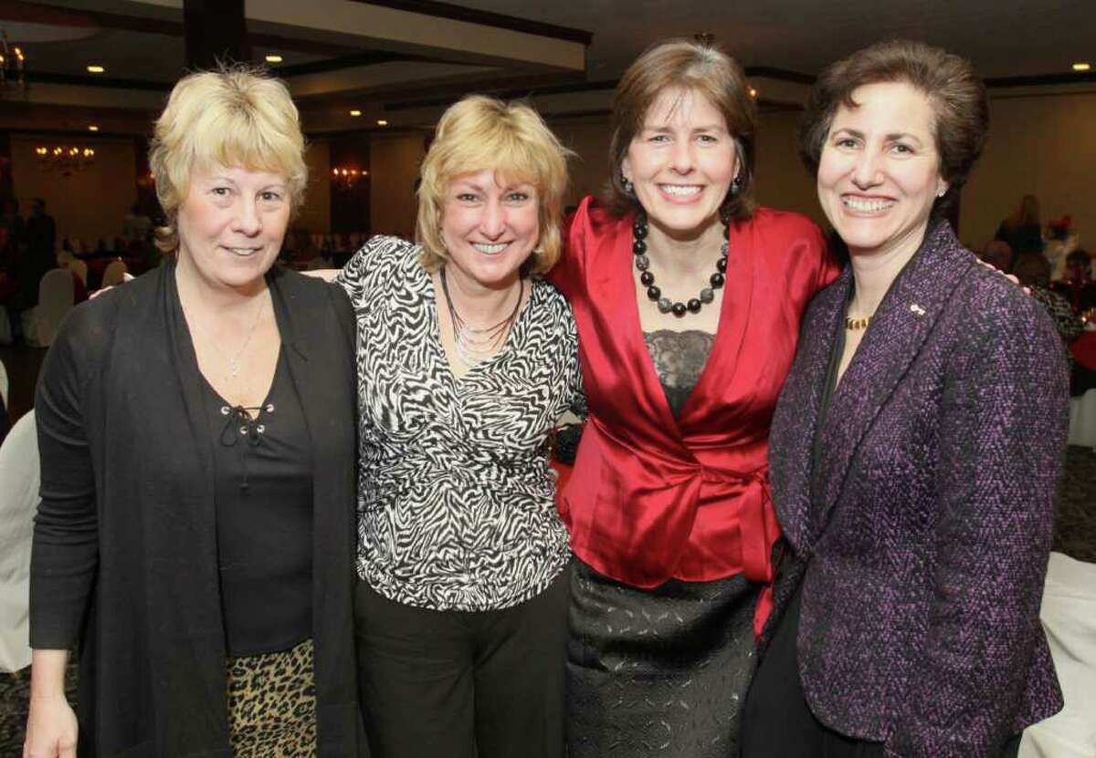 From left: Karen DiBella, Margie Castellana and Patsy Carl with Ellen Sax, vice president of community relations at KeyBank. (Joe Putrock / Special to the Times Union)