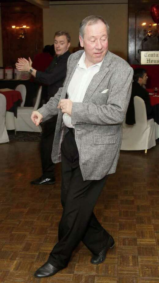 Frank Culley leads an impromptu line dance. (Joe Putrock / Special to the Times Union) Photo: Joe Putrock / Joe Putrock