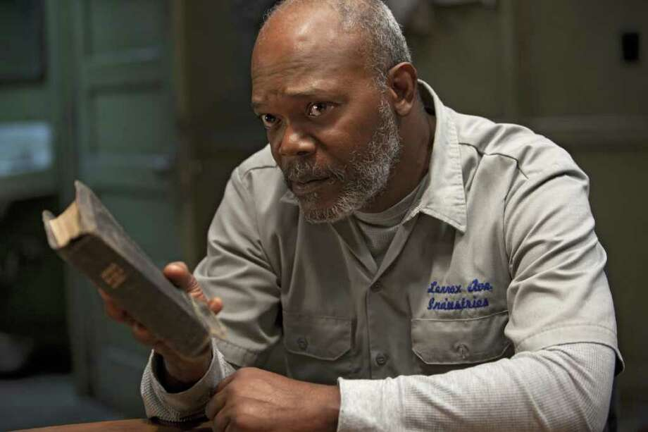 "In this publicity image released by HBO, Samuel L. Jackson is shown in a scene from ""The Sunset Limited,"" drawn from the 2006 play of the same name by Pulitzer-prize-winning author Cormac McCarthy. The film will premiere Saturday, Feb. 12, 2011 at 9:00 p.m. EST on HBO. Photo: AP"