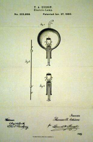 Thomas Edison 39 S Technical Drawing For His Patent On
