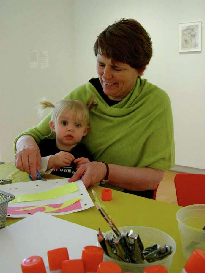Amelia and Helen Vail participate in an Aldrich Buddies program at The Aldrich Contemporary Art Museum in Ridgefield. Photo: Contributed Photo / The News-Times Contributed