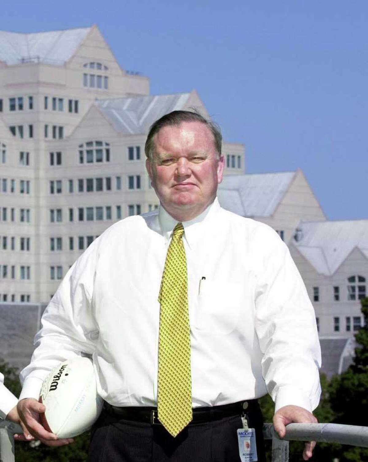 Greenwich resident Robert Burton in 2001. The University of Connecticut has apparently made amends with longtime donor Burton, who last month asked for millions back after a disagreement over the selection of the new UConn football coach.