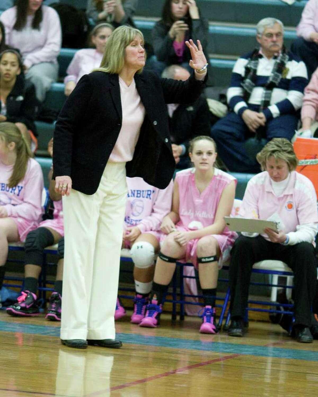 Danbury High School coach Jackie DiNardo.