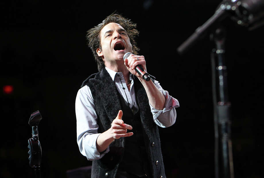 Train lead vocalist Patrick Monahan performs in concert at the 2011 San Antonio Stock Show & Rodeo at the AT&T Center on Friday, Feb. 11, 2011. Photo: Kin Man Hui/kmhui@express-news.net