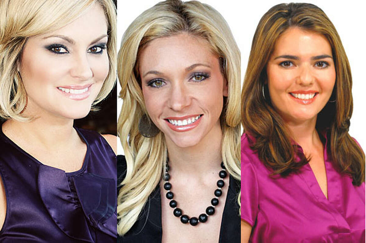 From Left to right: Shelly Miles, Natalie Tejeda and Miriam Zamorano cover traffic for WOAI, KENS and KABB, respectively.