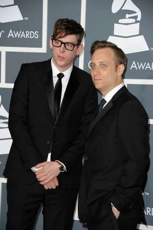 LOS ANGELES, CA - FEBRUARY 13:  Musicians Patrick Carney (L) and Dan Auerbach of The Black Keys arrive at The 53rd Annual GRAMMY Awards held at Staples Center on February 13, 2011 in Los Angeles, California.  (Photo by Jason Merritt/Getty Images) *** Local Caption *** Patrick Carney;Dan Auerbach Photo: Jason Merritt, Getty Images / 2011 Getty Images