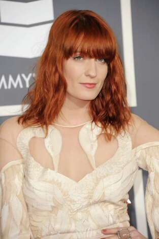 LOS ANGELES, CA - FEBRUARY 13:  Singer Florence Welch of Florence and the Machine arrives at The 53rd Annual GRAMMY Awards held at Staples Center on February 13, 2011 in Los Angeles, California.  (Photo by Jason Merritt/Getty Images) *** Local Caption *** Florence Welch Photo: Jason Merritt, Getty Images / 2011 Getty Images