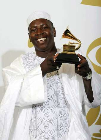 "LOS ANGELES, CA - FEBRUARY 13:  Musician Vieux Farka Toure of Ali Farka Toure & Toumani Diabate and winner of the Best Traditional World Music Album award for ""Ali And Toumani"" poses in the press room at The 53rd Annual GRAMMY Awards held at Staples Center on February 13, 2011 in Los Angeles, California.  (Photo by Kevork Djansezian/Getty Images) *** Local Caption *** Vieux Farka Toure Photo: Kevork Djansezian, Getty Images / 2011 Getty Images"