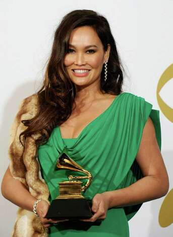 "LOS ANGELES, CA - FEBRUARY 13:  Musician Tia Carrere, winner of the Best Hawaiian Music Album for ""Huana Ke Aloha"" poses in the press room at The 53rd Annual GRAMMY Awards held at Staples Center on February 13, 2011 in Los Angeles, California.  (Photo by Kevork Djansezian/Getty Images) *** Local Caption *** Tia Carrere Photo: Kevork Djansezian, Getty Images / 2011 Getty Images"