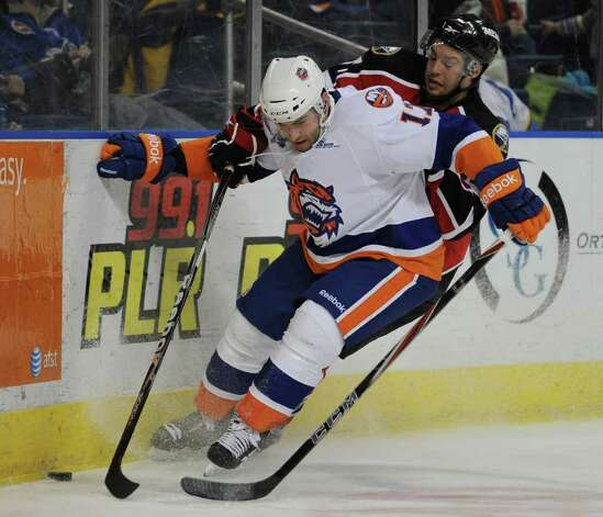 Bridgeport Sound Tigers Brandon Svendsen versus the Portland Pirates at the Webster Bank Arena in Bridgeport on Sunday, February 13, 2011. Photo: Brian A. Pounds / Connecticut Post