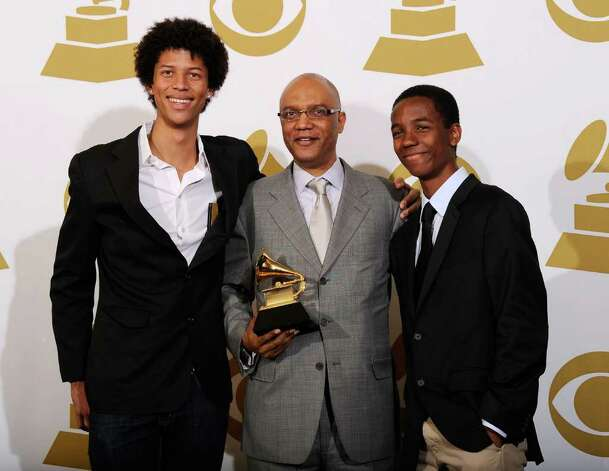 "LOS ANGELES, CA - FEBRUARY 13:  Composer Billy Childs (C), winner of the Best Instrumental Composition award for ""The Path Among The Trees"" poses in the press room at The 53rd Annual GRAMMY Awards held at Staples Center on February 13, 2011 in Los Angeles, California.  (Photo by Kevork Djansezian/Getty Images) *** Local Caption *** Billy Childs Photo: Kevork Djansezian, Getty Images / 2011 Getty Images"