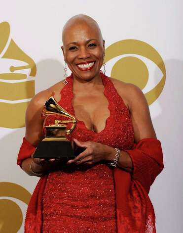 "LOS ANGELES, CA - FEBRUARY 13:  Musician Dee Dee Bridgewater, winner of the Best Jazz Vocal Album for ""Eleanora Fagan (1915-1959): To Billie With Love From Dee Dee"" poses in the press room at The 53rd Annual GRAMMY Awards held at Staples Center on February 13, 2011 in Los Angeles, California.  (Photo by Kevork Djansezian/Getty Images) *** Local Caption *** Dee Dee Bridgewater Photo: Kevork Djansezian, Getty Images / 2011 Getty Images"