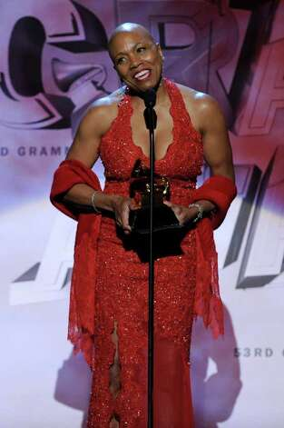 LOS ANGELES, CA - FEBRUARY 13:  Singer Dee Dee Bridgewater accepts Best Jazz Vocal Album onstage during The 53rd Annual GRAMMY Awards held at Staples Center on February 13, 2011 in Los Angeles, California.  (Photo by Kevin Winter/Getty Images) *** Local Caption *** Dee Dee Bridgewater Photo: Kevin Winter, Getty Images / 2011 Getty Images