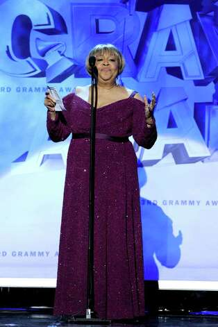 LOS ANGELES, CA - FEBRUARY 13:  Singer Mavis Staples accepts the Best Americana Album Award onstage during The 53rd Annual GRAMMY Awards held at Staples Center on February 13, 2011 in Los Angeles, California.  (Photo by Kevin Winter/Getty Images) *** Local Caption *** Mavis Staples Photo: Kevin Winter, Getty Images / 2011 Getty Images